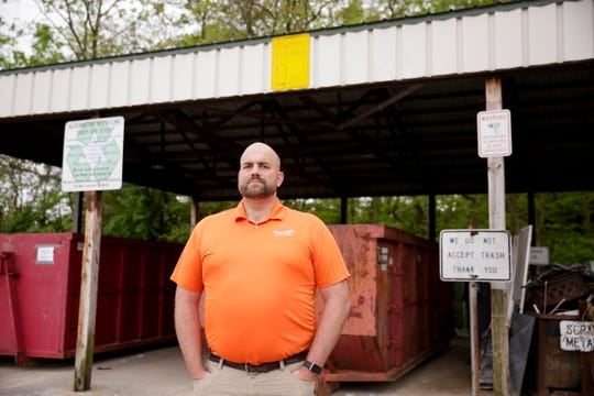 Ben Anderson, West Lafayette street and sanitation supervisor, poses for a photo at the West Lafayette recycling center, Friday, May 10, 2019, in West Lafayette. The center was first opened in 1970's and has evolved over the years to include recycling for cooking and motor oils, food waste and other household recycling items.