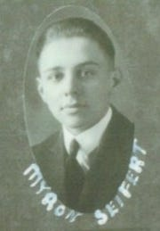 This photo of a young Myron Seifert appeared in the 1921 Bremen High School Yearbook.