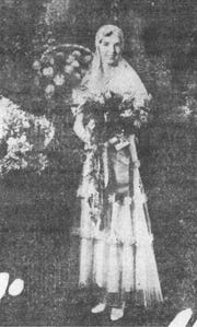 Miss Dorothy Thomas married Myron T. Seifert on Oct. 1, 1931. This photo of the bride appeared in the Daily Eagle on Oct. 3, 1931.