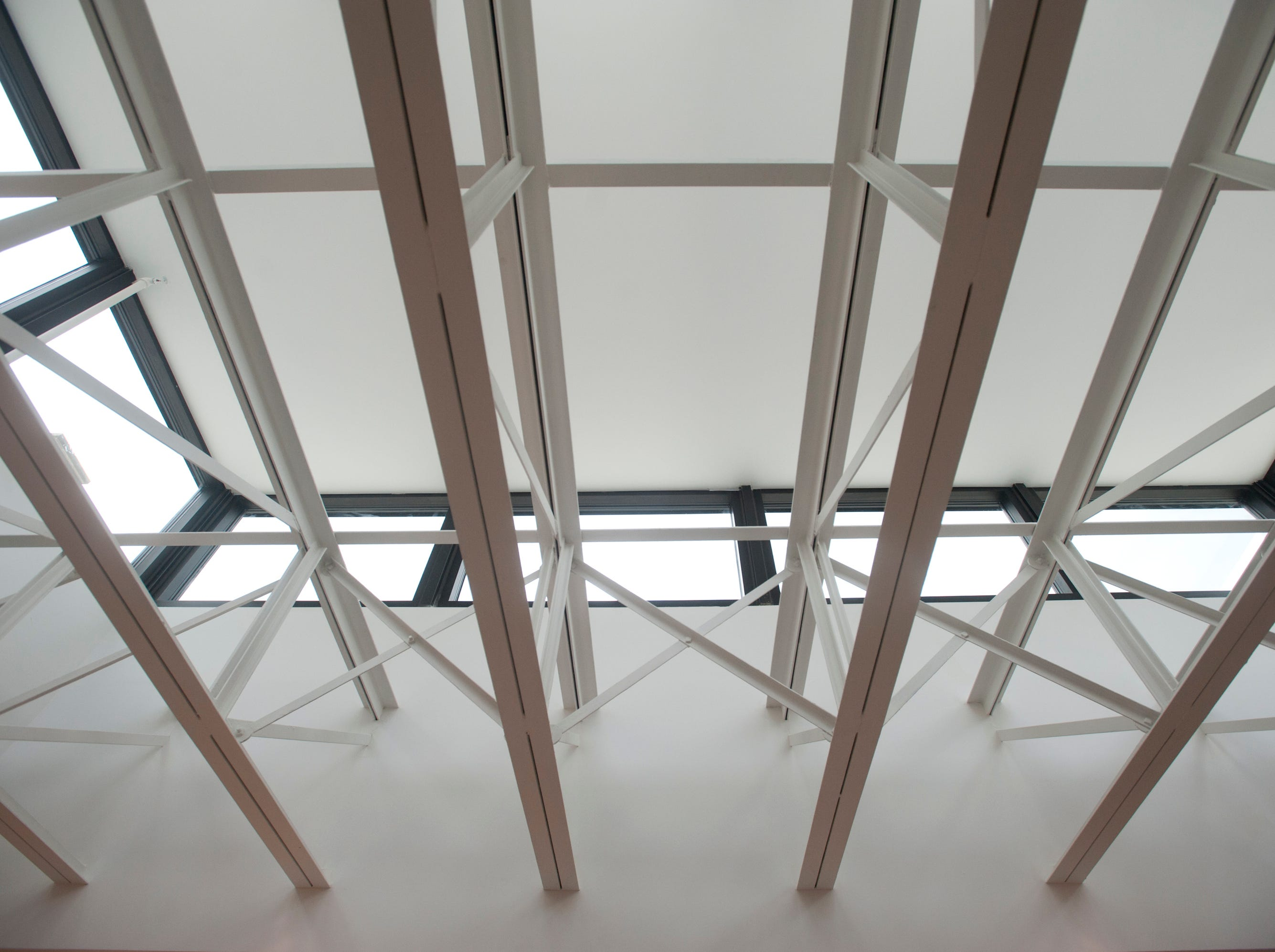 Detail of one of the new skylights in the library which allows natural light to illuminate reading areas.