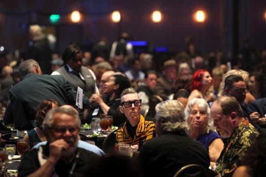 Attendees watch the 40th Blues Music Awards at the Cook Convention Center in downtown Memphis on Thursday, May 9, 2019.