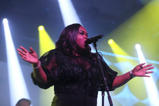 Shemekia Copeland performs with her band during the 40th Blues Music Awards at the Cook Convention Center in downtown Memphis on Thursday, May 9, 2019.