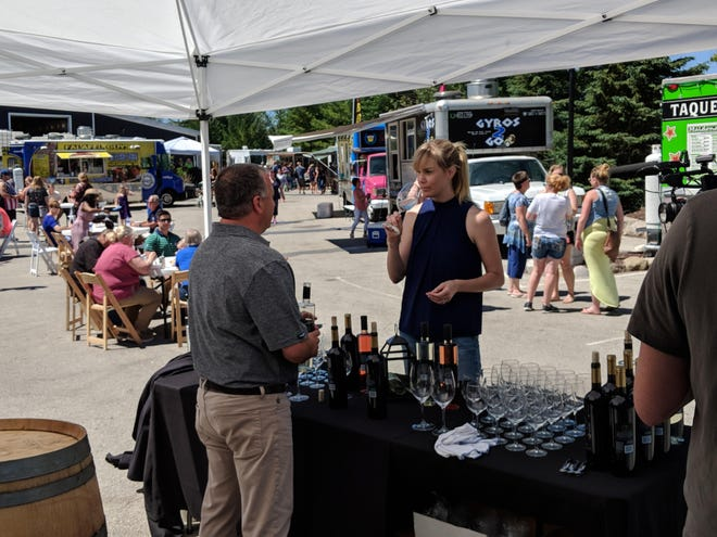 Besides 26 food trucks, visitors to the Gourmet Food Truck Festival in Kohler on May 18 and 19 will find wines from The Blind Horse Restaurant & Winery.