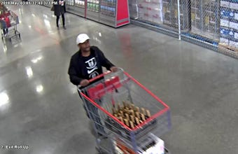 Video shows man stealing $800 worth of Hennessy from Costco in Menomonee Falls.