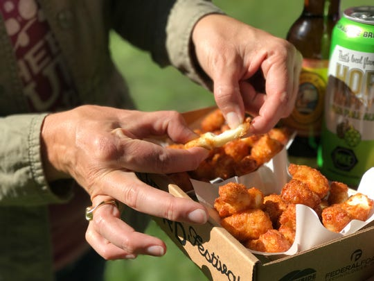 Ellsworth is the Cheese Curd Capital of Wisconsin and hosts a Cheese Curd Festival every June.