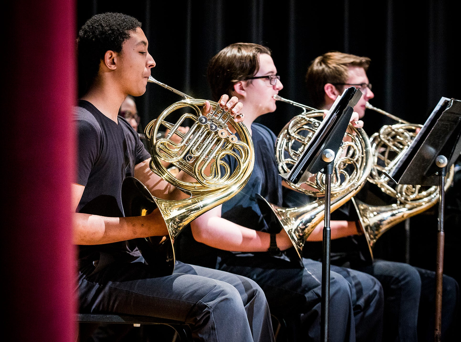 The Muncie Central Band performs during the 2019 MCS Adult Education Program graduation ceremony at Central Thursday night.
