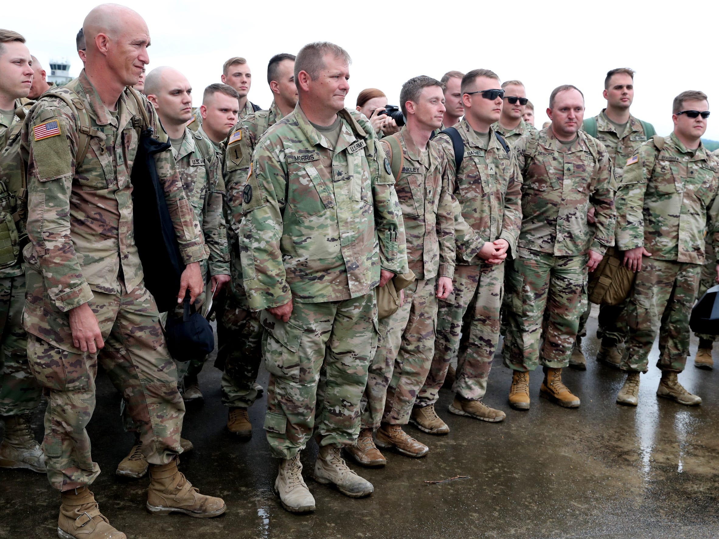 Soldiers with the 278th ACR returned to the Volunteer Training Site in Smyrna after serving  a 9 month overseas deployment on Thursday, May 9, 2019.
