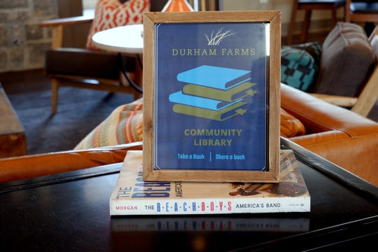 Durham Farms has a community lending library. Residents are asked to take a book and leave a book.