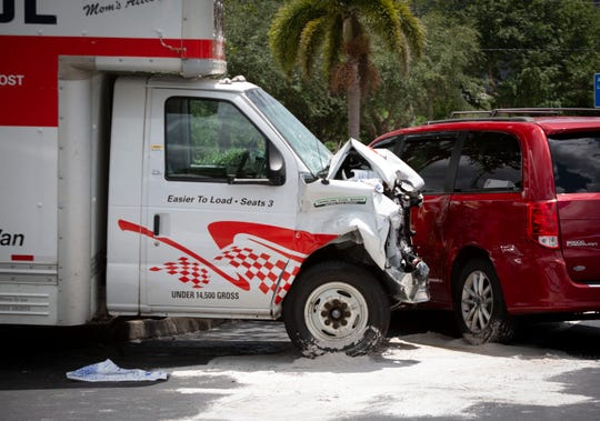 A U-Haul truck that caused an 11-vehicle crash on Immokalee Road near NCH North after likely suffering from a medical emergency, officials said. Three people were taken to the hospital but no major injuries were reported.
