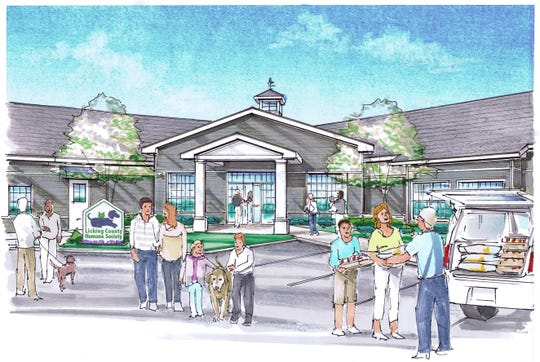 A rendering of the expanded Licking County Human Society shelter.