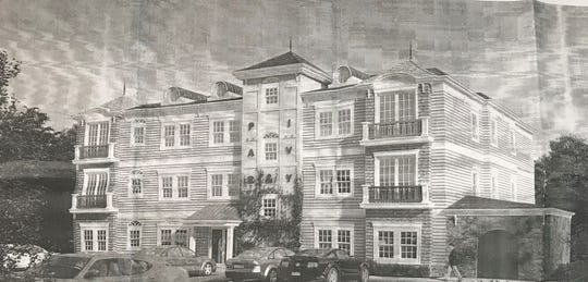 An artist rendering of a development proposed for 54 Park Ave. in Allendale.