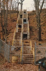 The 100 stairs when they were still open and the overgrowth wasn't so severe.