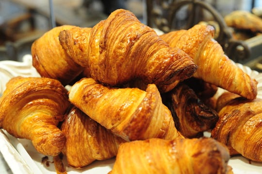 Patisserie Florentine shop, croissants in Englewood,