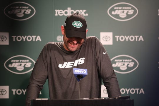 Head coach Adam Gase spoke before the rookie players were introduced.