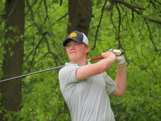 Sophomore Jesse Henderson helped River Dell win the Patriot Division title at the Big North Conference Golf Championship Bergen Bracket at Rockleigh Golf Course in Rockleigh on Friday, May 10, 2019.