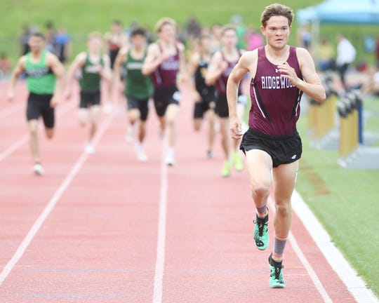 Will Baginski of Ridgewood goes for the outdoor 1,600 title to match the one he picked up indoor.