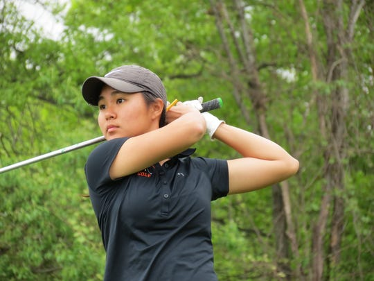 Fort Lee senior Sun Hwang finished third at the Big North Conference Golf Championship Bergen Bracket at Rockleigh Golf Course in Rockleigh on Friday, May 10, 2019.