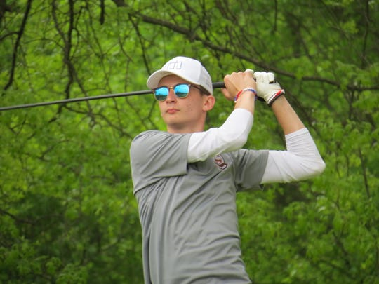 Senior Spencer Chatfield was runner-up at the Big North Conference Golf Championship Bergen Bracket at Rockleigh Golf Course in Rockleigh on Friday, May 10, 2019.