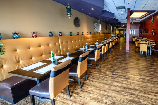 The dining room at Benares, a new Indian restaurant in Wyckoff
