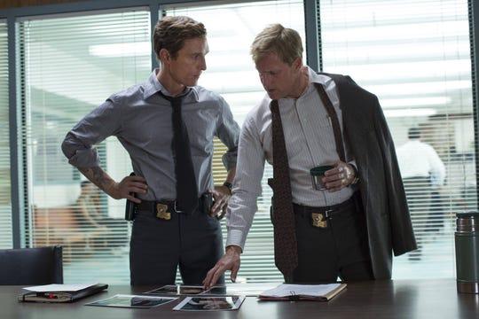 """""""True Detective"""": Matthew McConaughey, Woody Harrelson."""