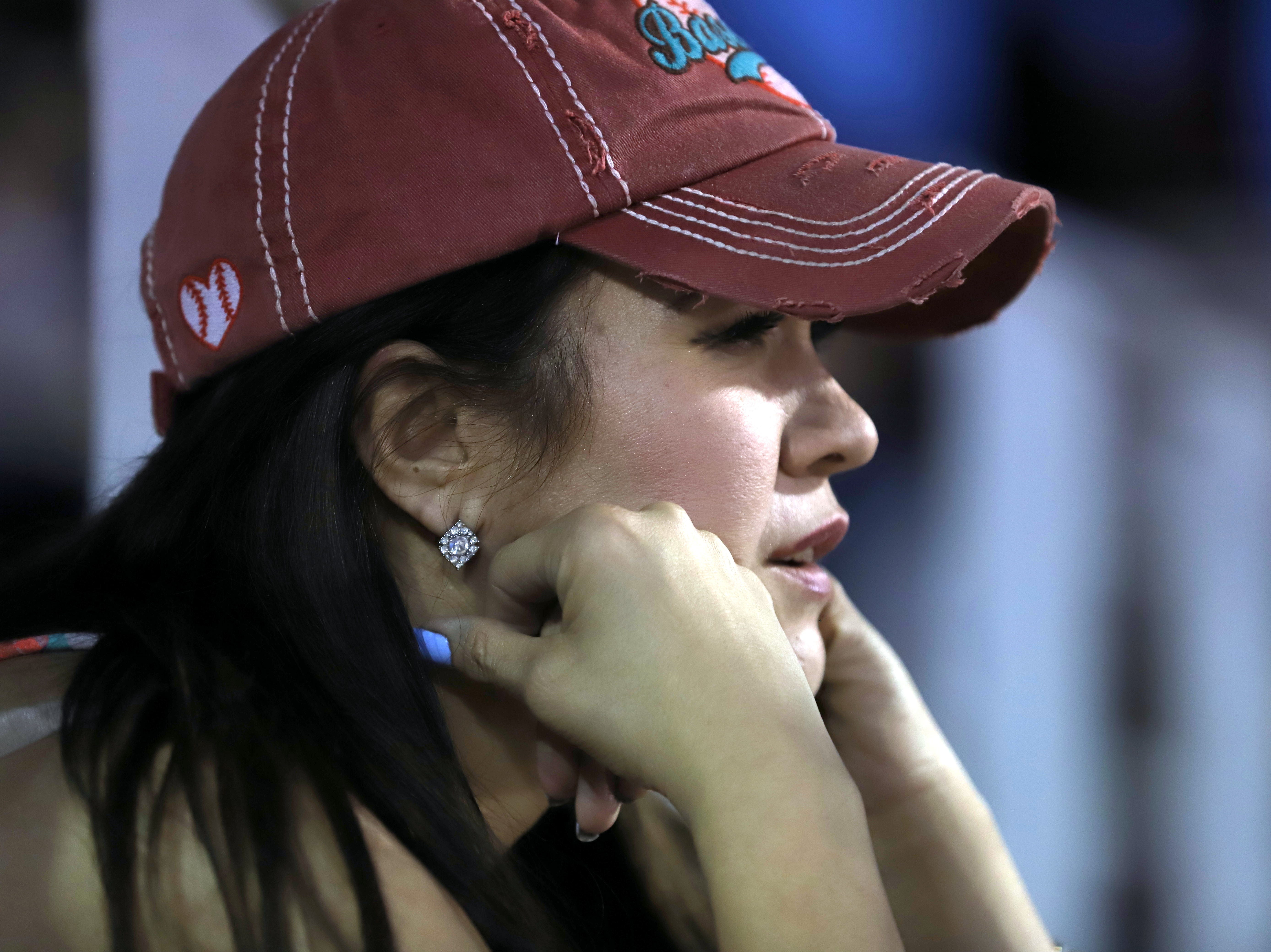 Wildcat mom Rita Holguin is filled with anxiety as the Deming Wildcats take the field.