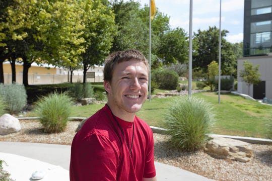 Adam Stempeck, 24, has just completed his master's degree in mechanical engineering and is about to begin work at Sandia National Laboratories. Friday, May 10, 2019.