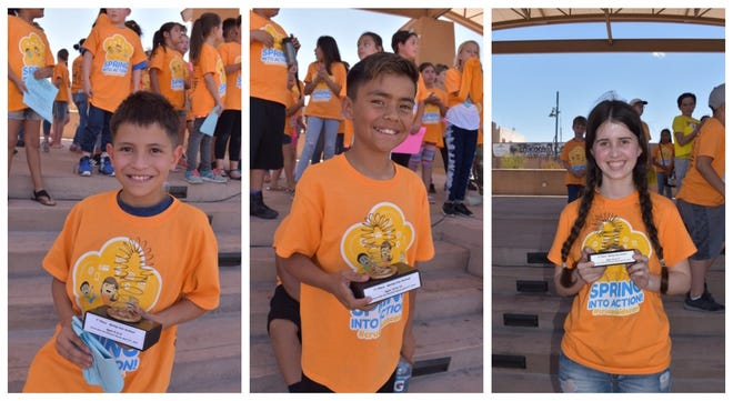 Cruces Kids Can Children's Bazaar winners from left to right: Seth Ryan, Rafael Delgado and Arabella Camunez.
