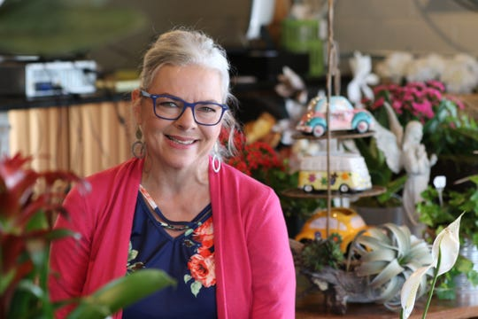 Angela Lamberth owns Angee's Flowers in Carlsbad, New Mexico. The flower and home interior shop opened its doors to customers in May.