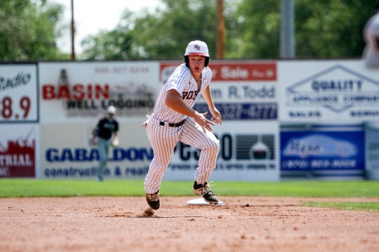 Nick Vernars races home from second base to score a run against the Danville Hoots, Tuesday, July 7, 2018 during Game 6 of the Connie Mack World Series at Ricketts Park in Farmington. The City of Farmington may decide to renovate Ricketts Park using the Community Transformation and Economic Development Fund in partnership with Farmington Municipal School District.