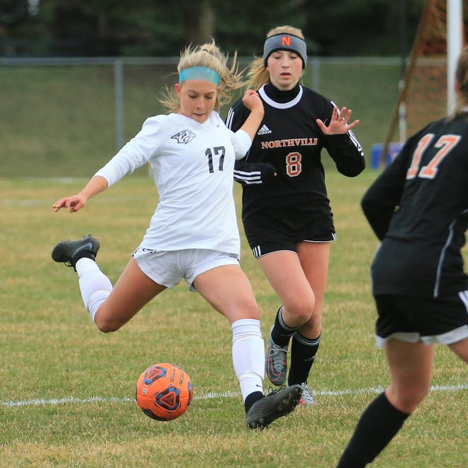 Plymouth's Brianna McNab scored three goals last week in a pair of wins.