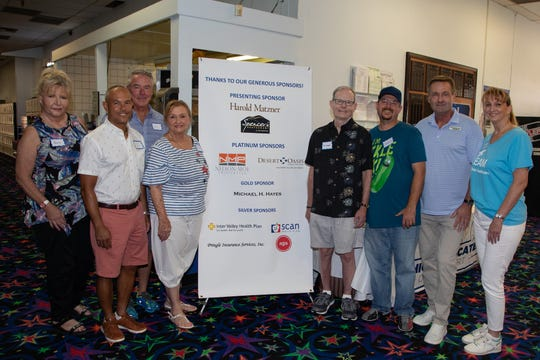 From left: Sponsors attending the event included Ann E. Whittlesey, Cat Moe, John Nelson, Shirley Pringle, Michael H. Hayes, David Bradley, Executive Director Chris O'Hanlon and Kathy Richardson