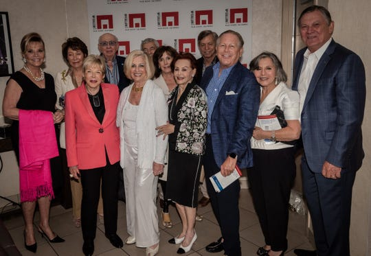 Back row, from left: Jan Salta, Bobbi Holland, Miles Berger, Stewart Boxer and Doug Miller. Front row, from left: Sally Berger, Helene Galen, Cydney Osterman, Jamie Kabler, Barbara Boxer and Aubrey Serfling