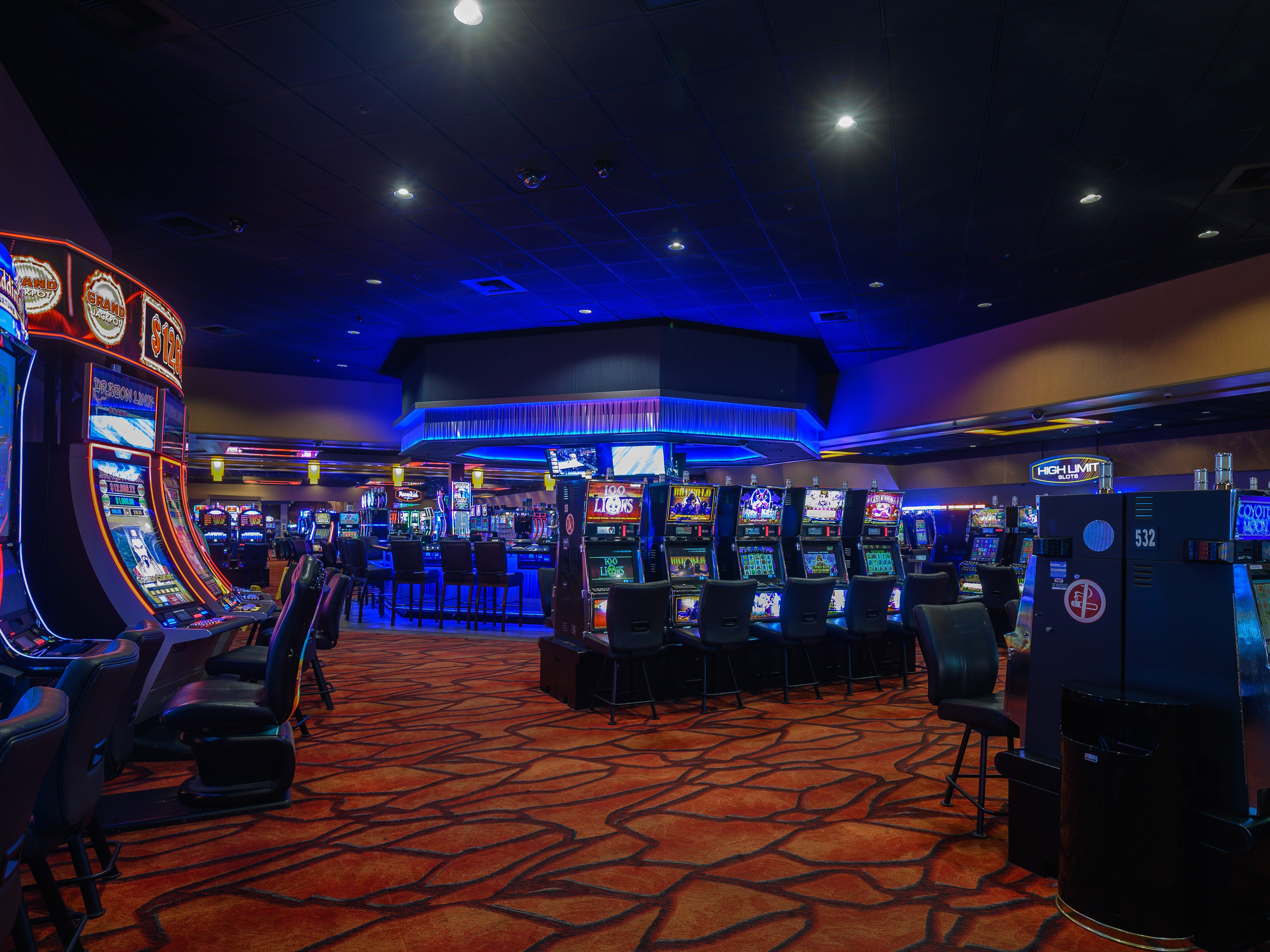 The casino floor at the Augustine Casino in Coachella, Calif.