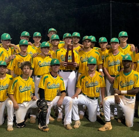 Catholic baseball wins fourth-straight district title, achieves 20-win season