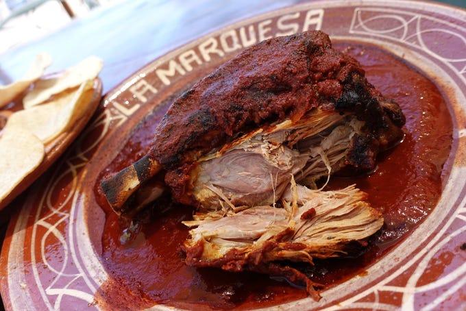 Chamorro de puerco in adobo at La Marquesa in Phoenix.
