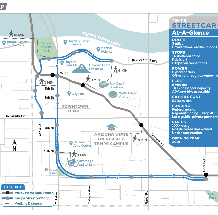 Northbound Mill Avenue to close for Tempe Streetcar construction