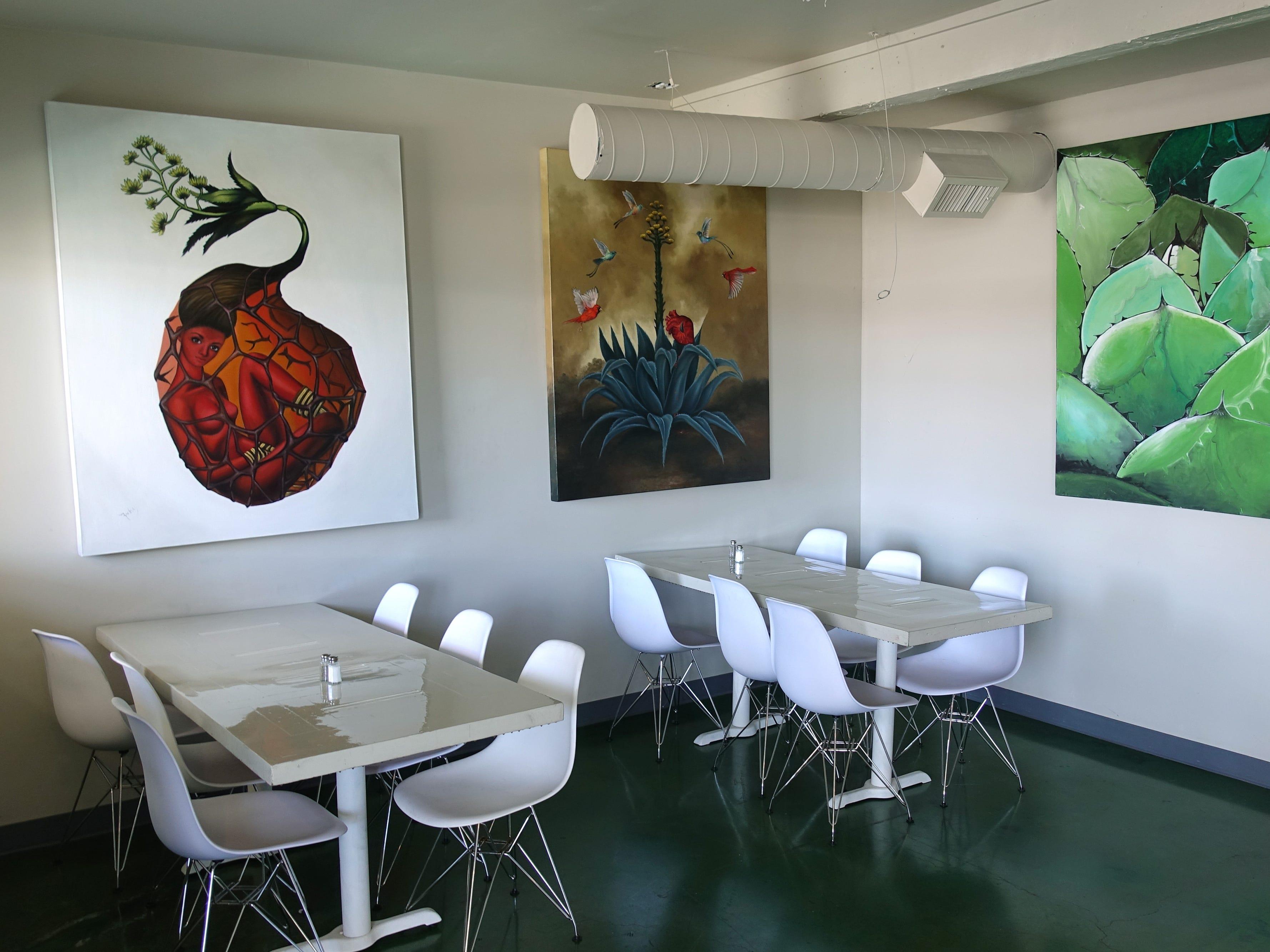 The interior of La Marquesa in Phoenix.