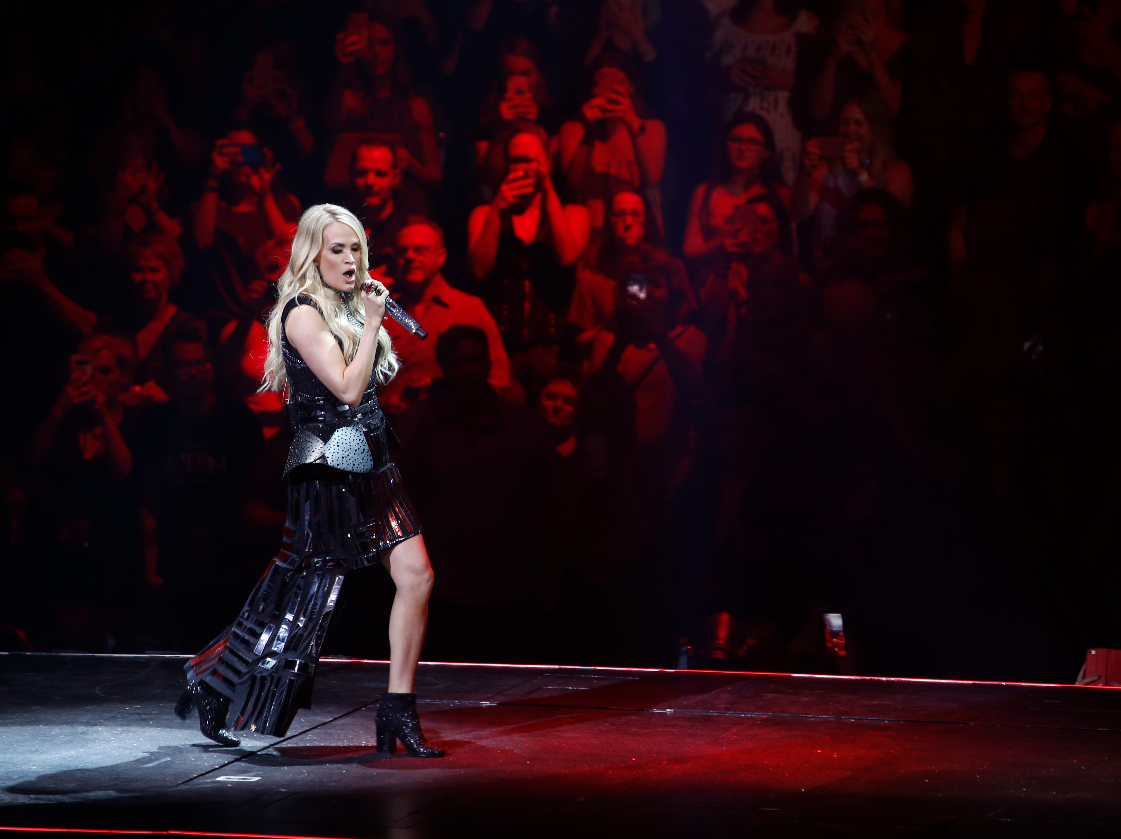 Carrie Underwood performs during her Cry Pretty Tour at Talking Stick Resort Arena in Phoenix on May 9, 2019.