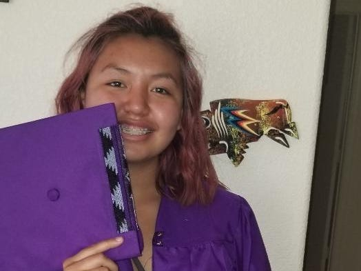 LaRissa Waln is pushing back against Valley Vista High School's policy that prohibits students from decorating their graduation caps. She is part of the Lakota Sioux tribe where traditional beading and regalia is worn to celebrate life milestones.