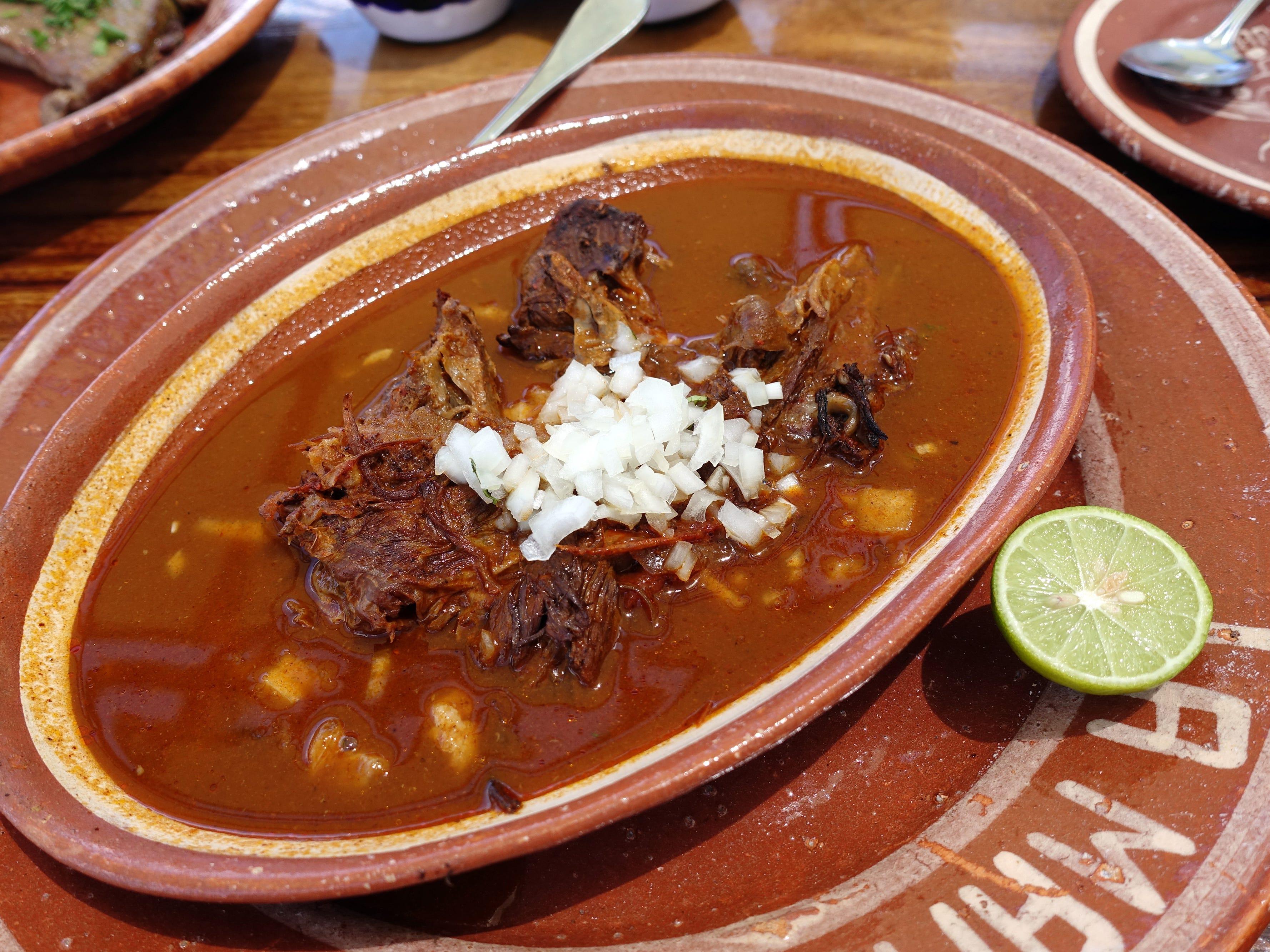Birria de chivo at La Marquesa in Phoenix.