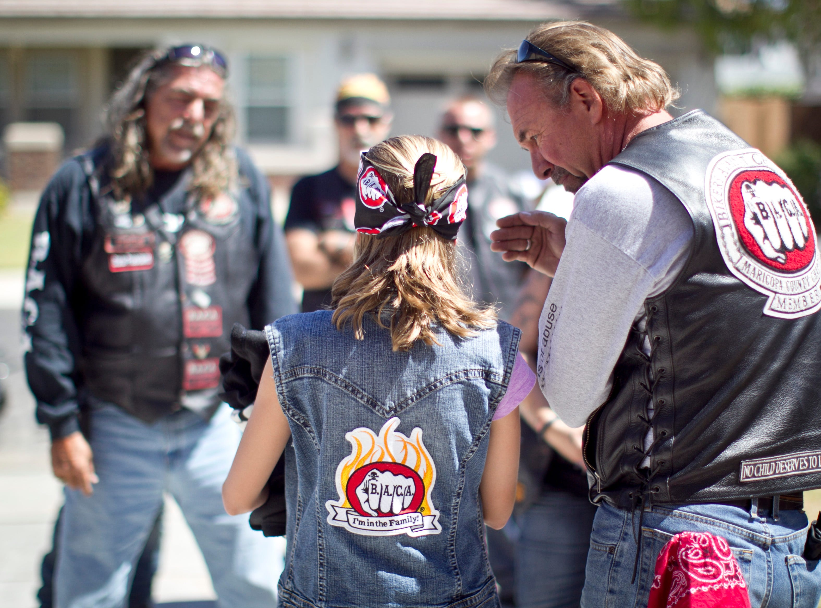 "Rembrandt of Bikers Against Child Abuse says, ""The biker image is what makes this work. Golfers against child abuse does not have the same feel."""