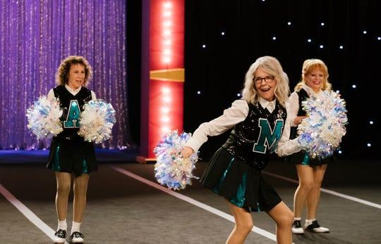 """Poms"" stars Rhea Perlman (from left), Diane Keaton and Jacki Weaver."