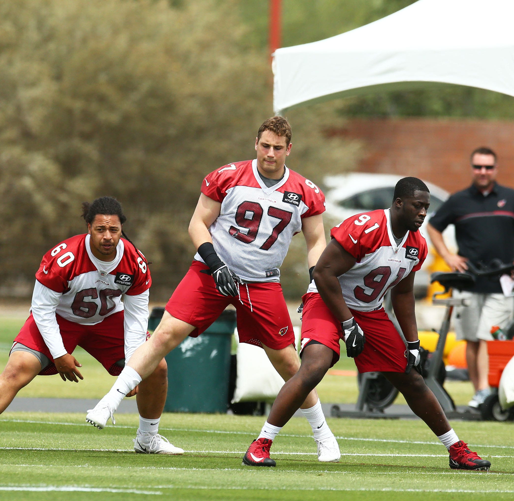 Arizona Cardinals rookie defensive end Zach Allen brings extreme intensity