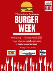 Now in its second year, Downtown Lebanon Burger Week will run from May 13 through May 19, featuring 10 participating locations.