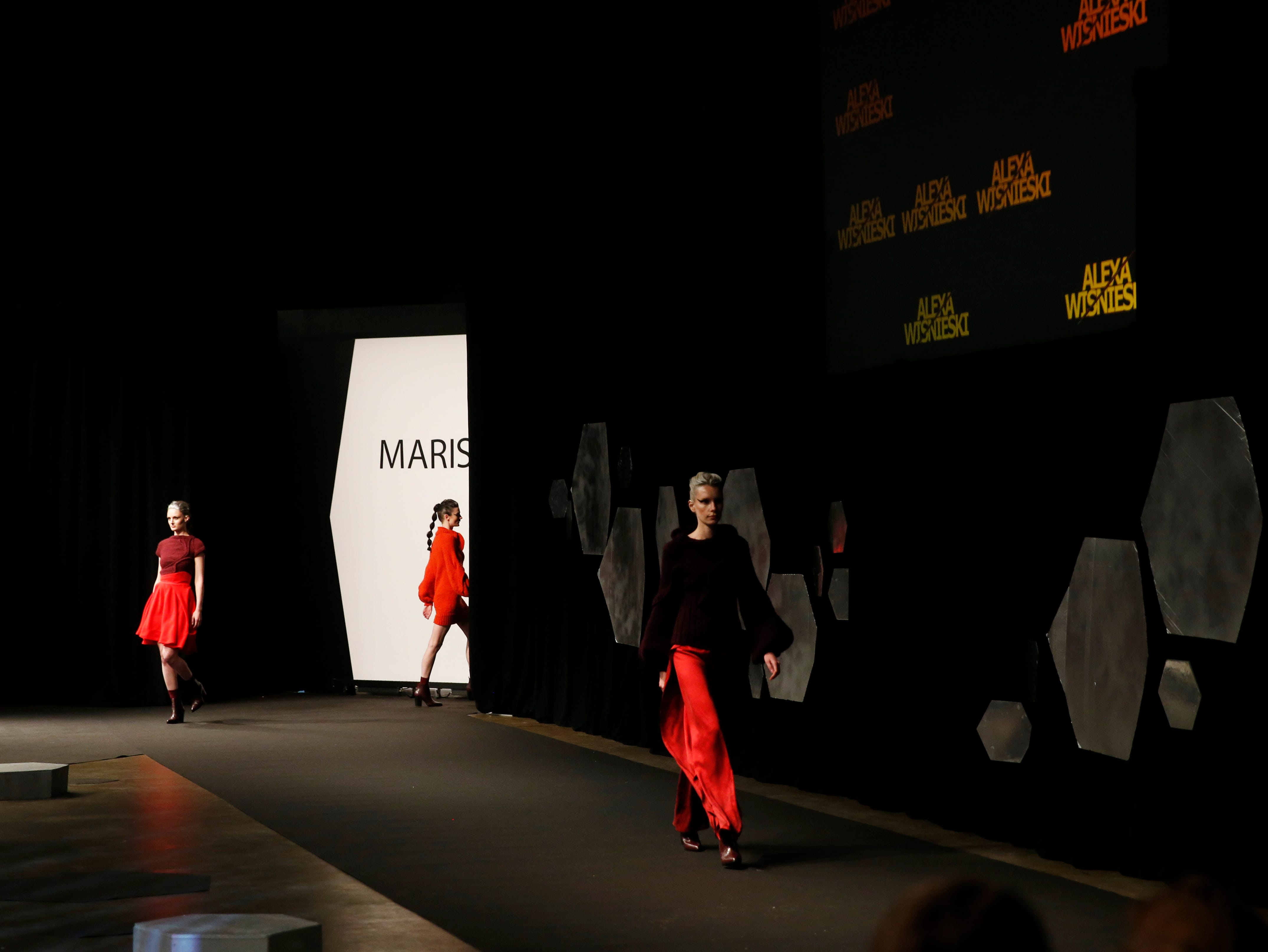 Designs from the collection of Marist College Fashion Department senior Alexa Wisnieski during the 33rd Marist College Silver Needle Runway Show on May 10, 2019.
