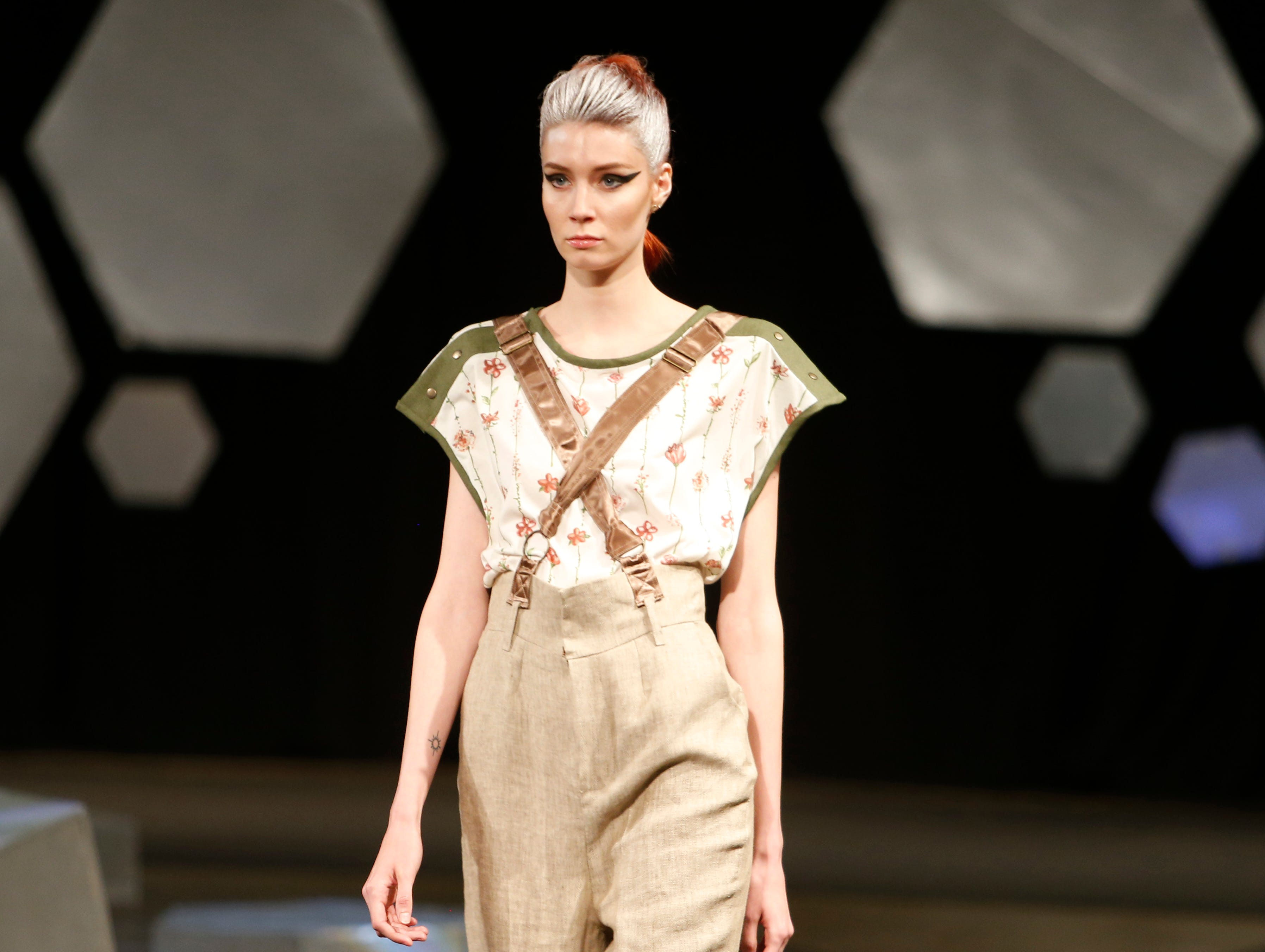 Designs from the collection of Marist College Fashion Department senior Peggy Chiang during the 33rd Marist College Silver Needle Runway Show on May 10, 2019.