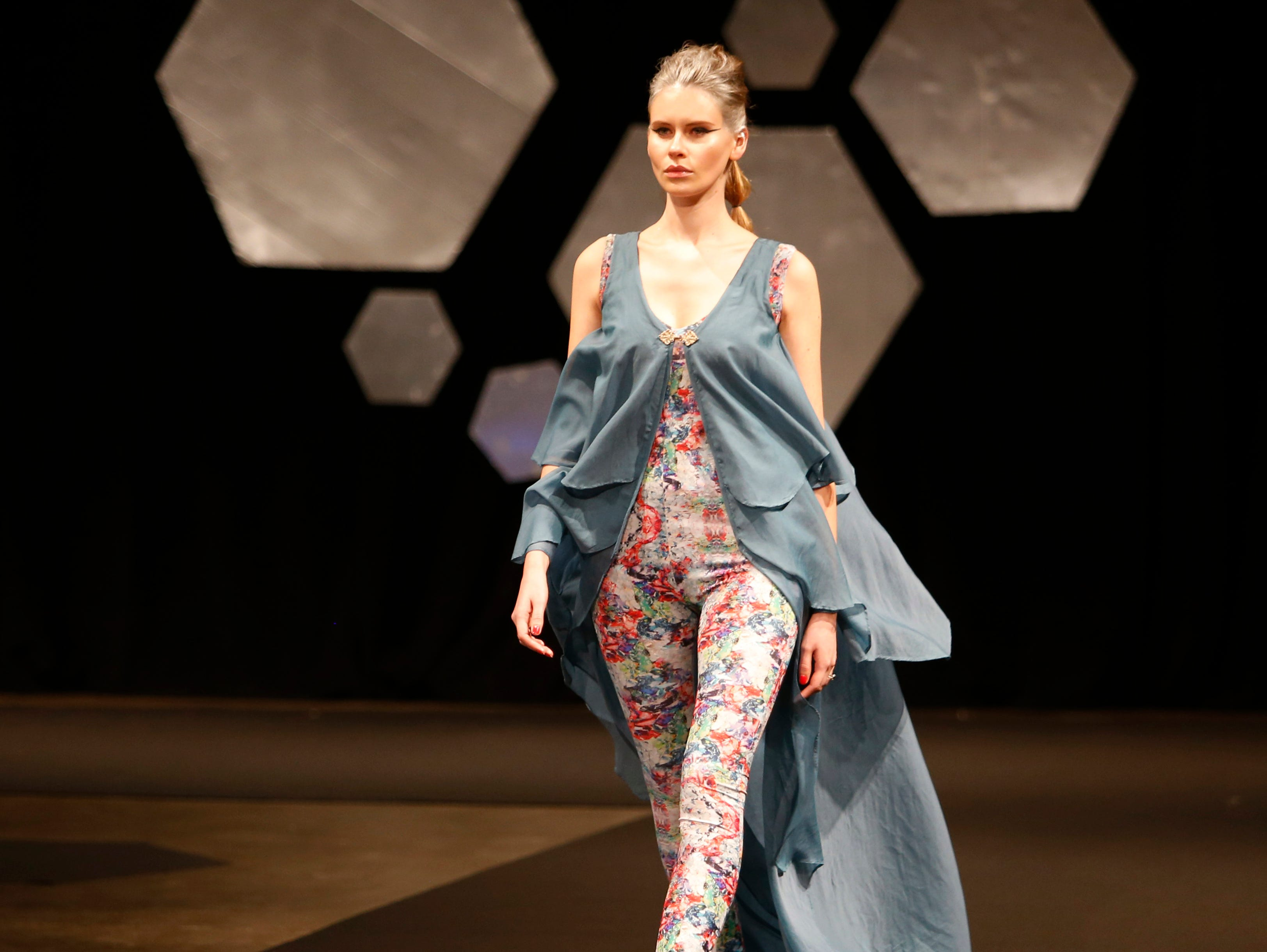 Designs from the collection of Marist College Fashion Department senior Kierston Litton during the 33rd Marist College Silver Needle Runway Show on May 10, 2019.
