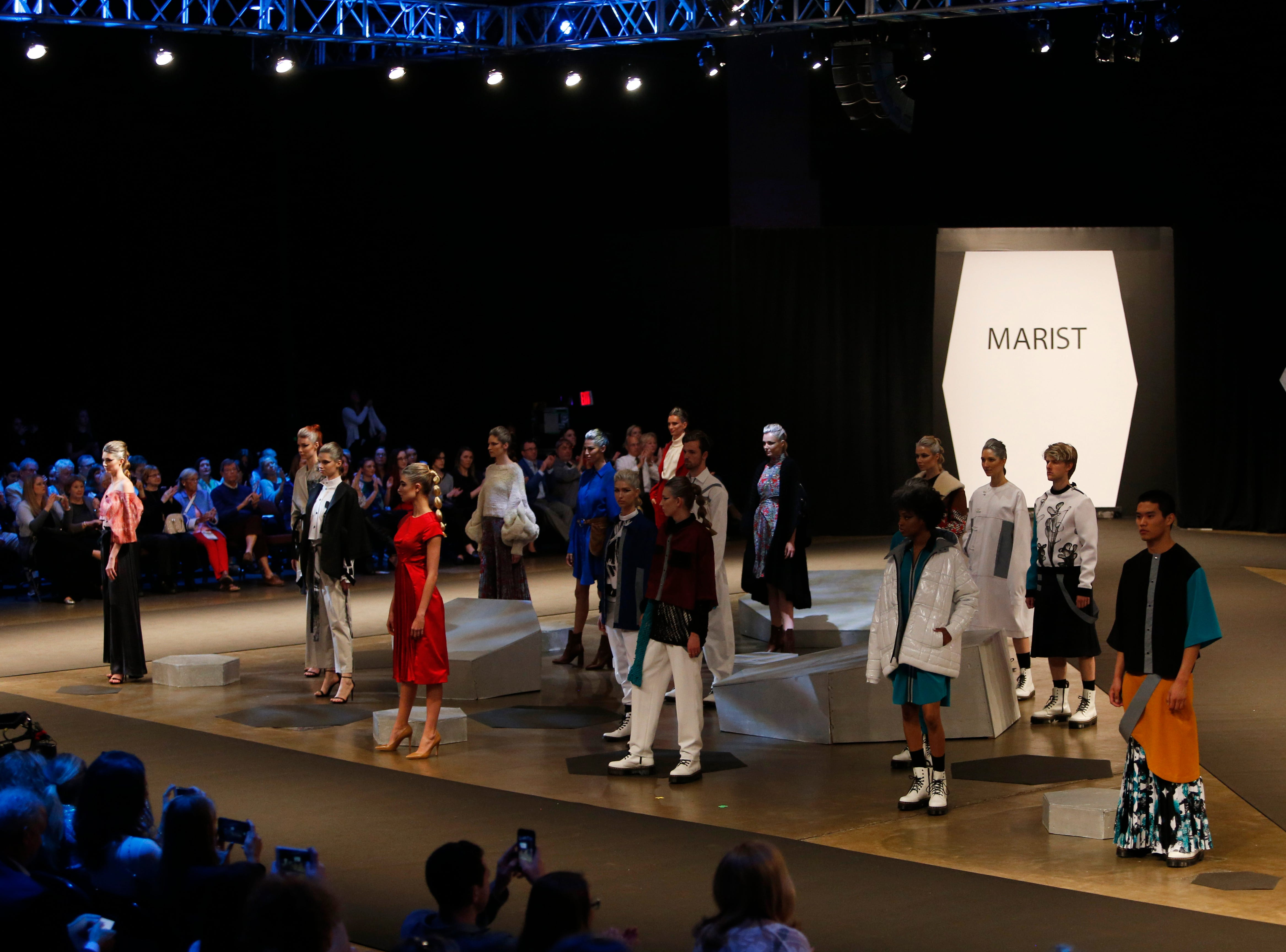 Models on the runway for the finale of the 33rd Marist College Silver Needle Runway Show on May 10, 2019.