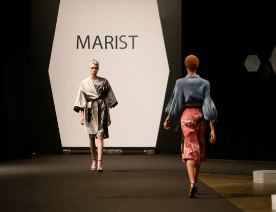 Designs from the collection of Marist College Fashion Department senior Alexis Alexander during the 33rd Marist College Silver Needle Runway Show on May 10, 2019.