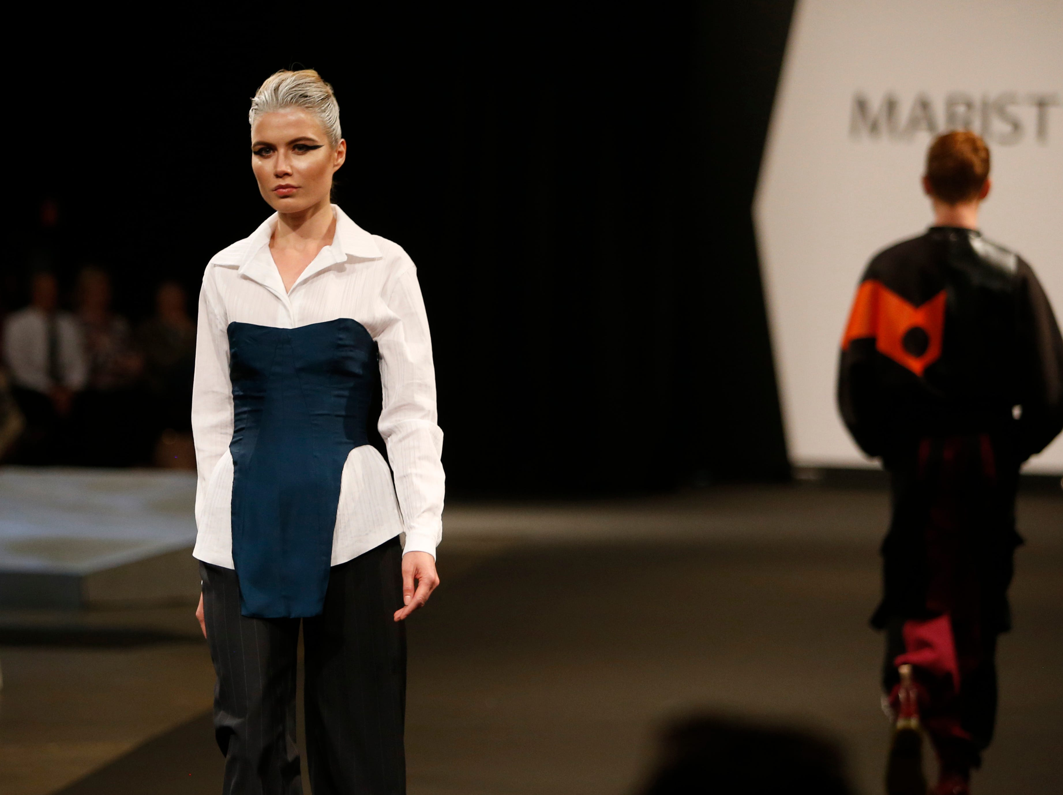 Designs from the collection of Marist College Fashion Department senior Kayla Torter during the 33rd Marist College Silver Needle Runway Show on May 10, 2019.